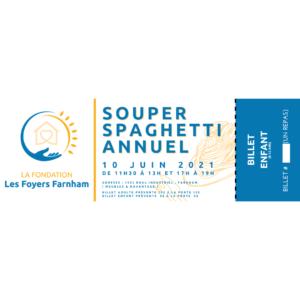 Souper Spaghetti Annuel / Billet Enfant 5$